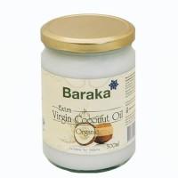 Кокосовое масло  Baraka 500 мл, нерафинированное, стекло Шри-Ланка