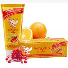 Зубная паста для детей Twin Lotus «Апельсин и Гранат»