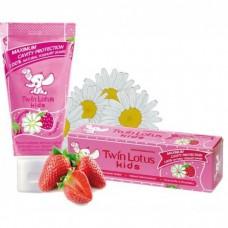 Зубная паста для детей Twin Lotus «Клубника и Ромашка»